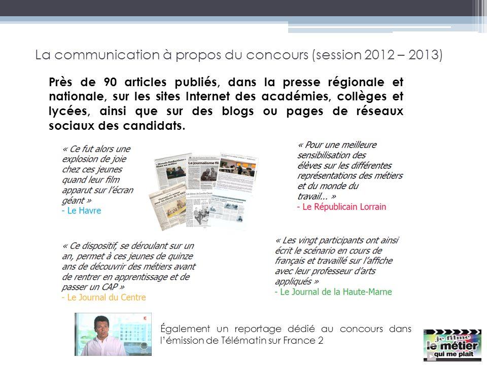 La communication à propos du concours (session 2012 – 2013)
