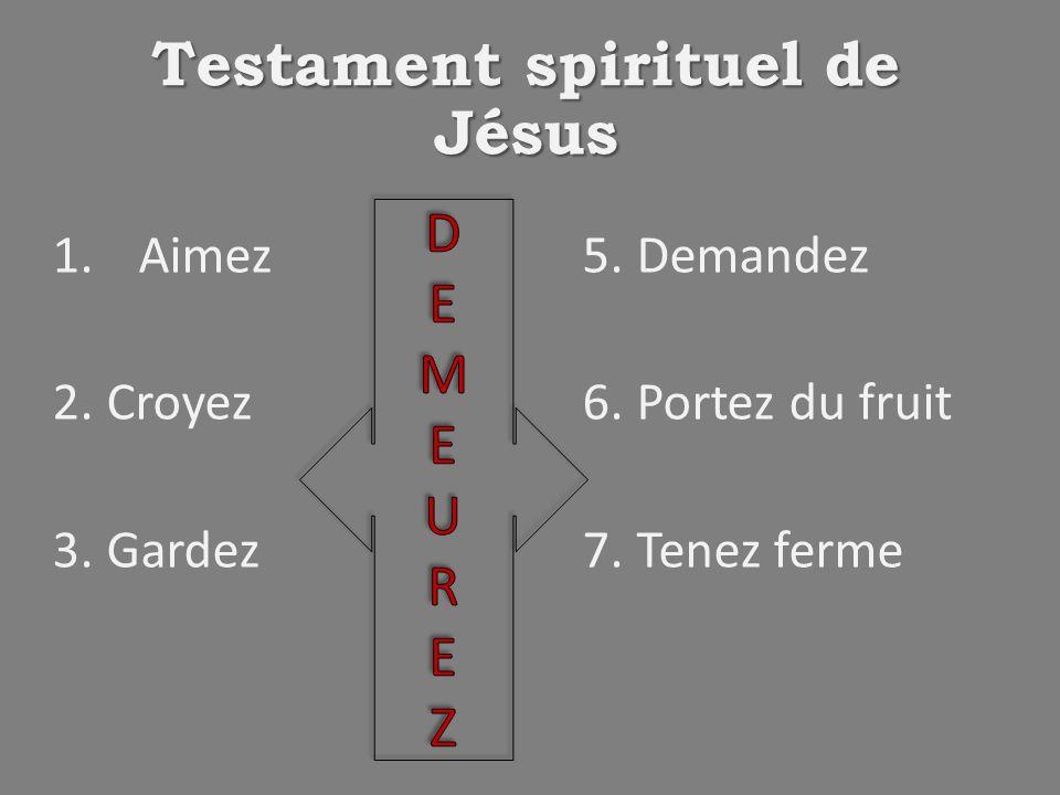 Testament spirituel de Jésus