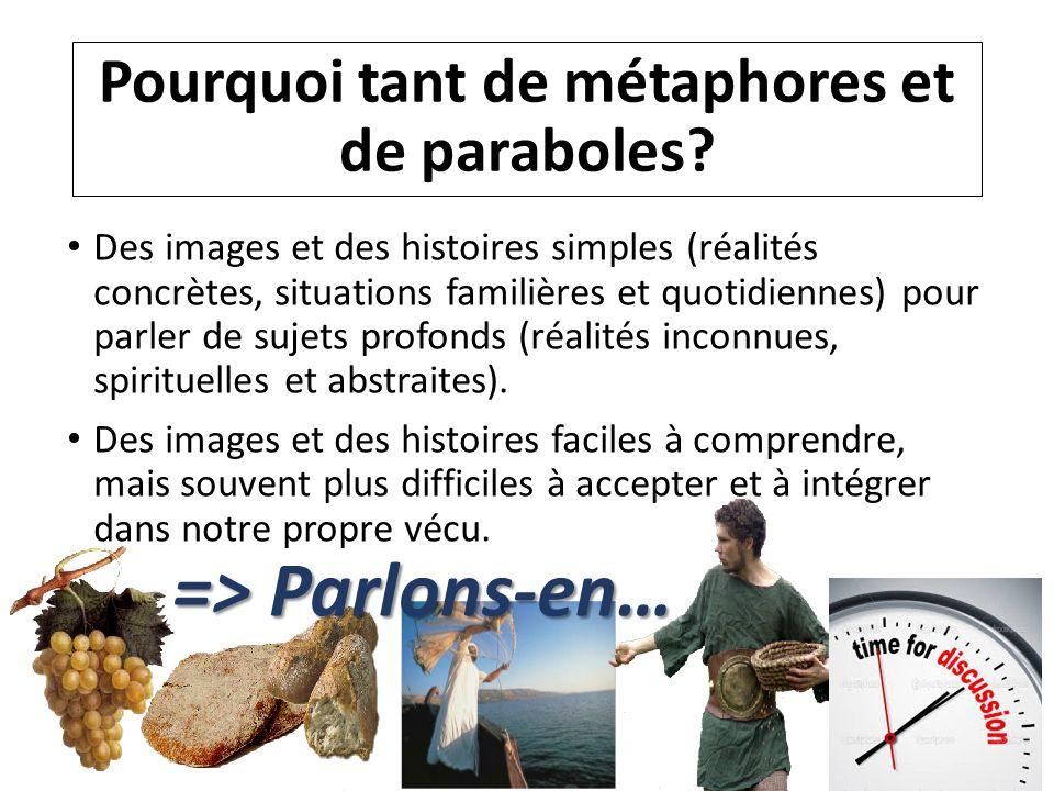 Pourquoi tant de métaphores et de paraboles