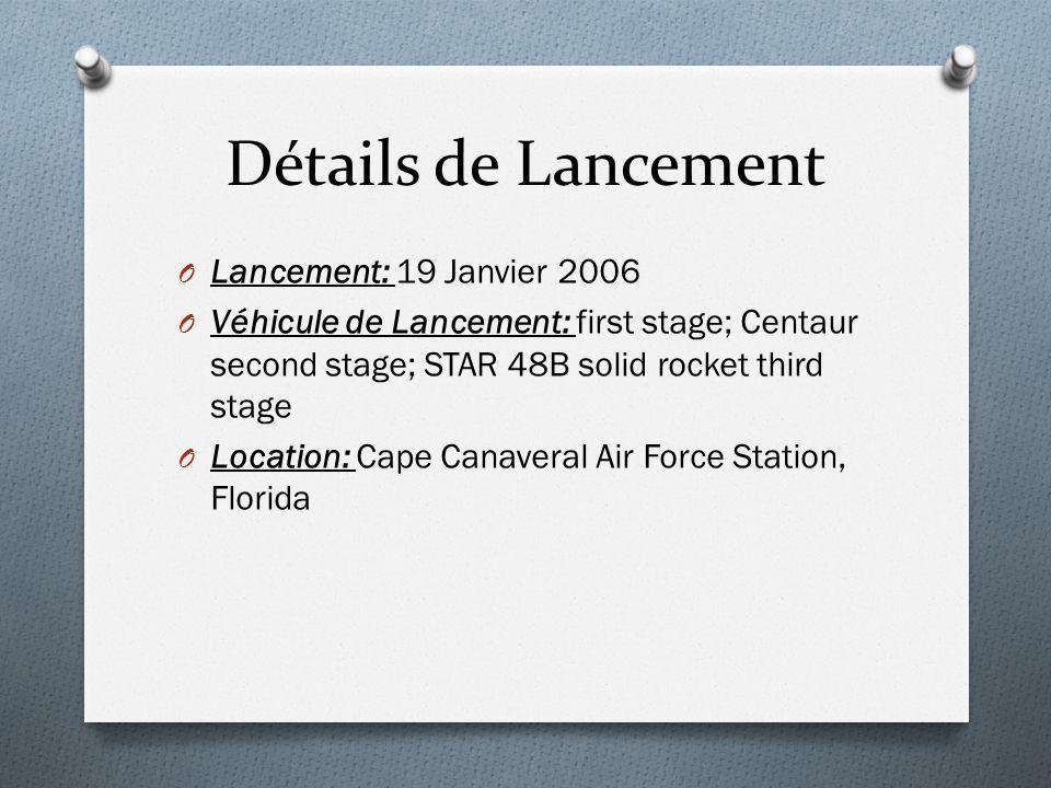 Détails de Lancement Lancement: 19 Janvier 2006