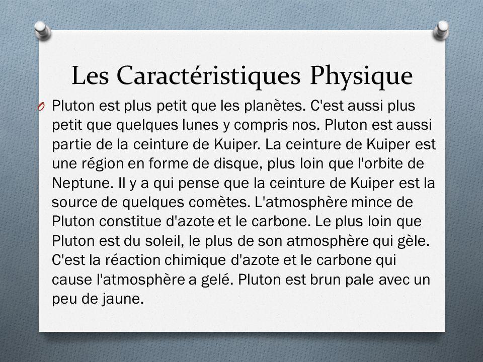 Les Caractéristiques Physique