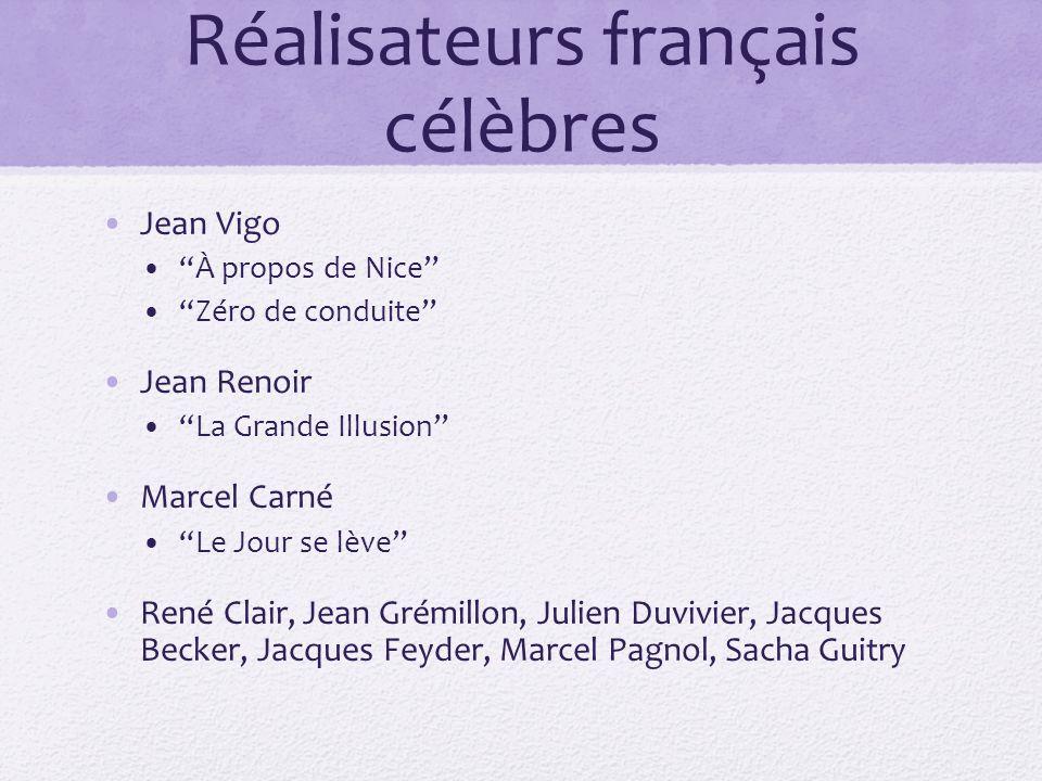 Réalisateurs français célèbres