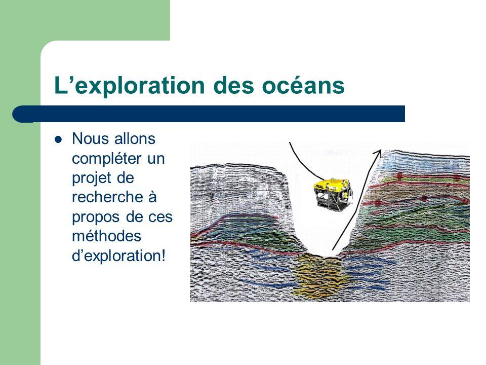 L'exploration des océans