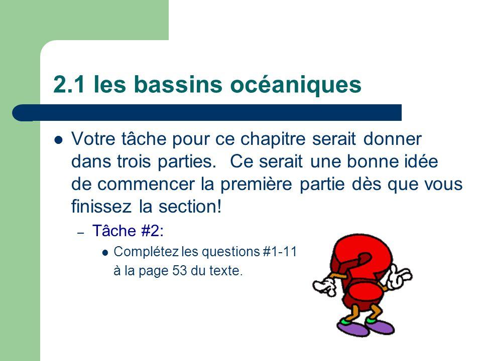 2.1 les bassins océaniques
