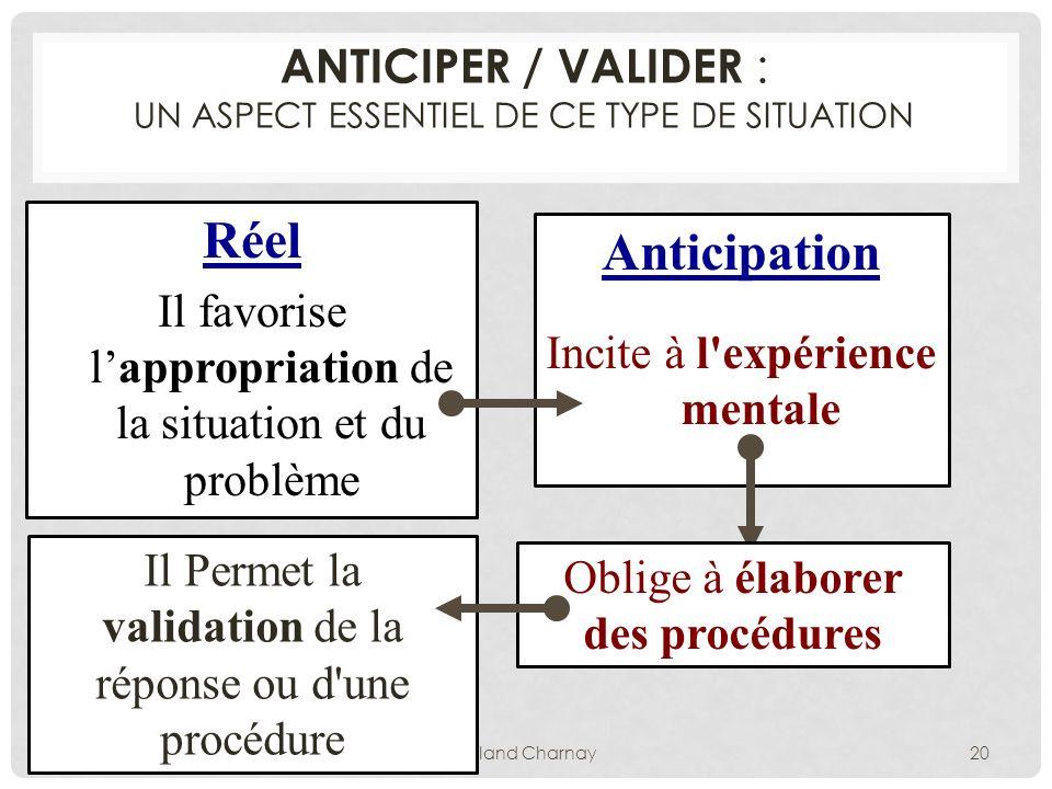 ANTICIPER / VALIDER : un aspect essentiel de ce type de situation