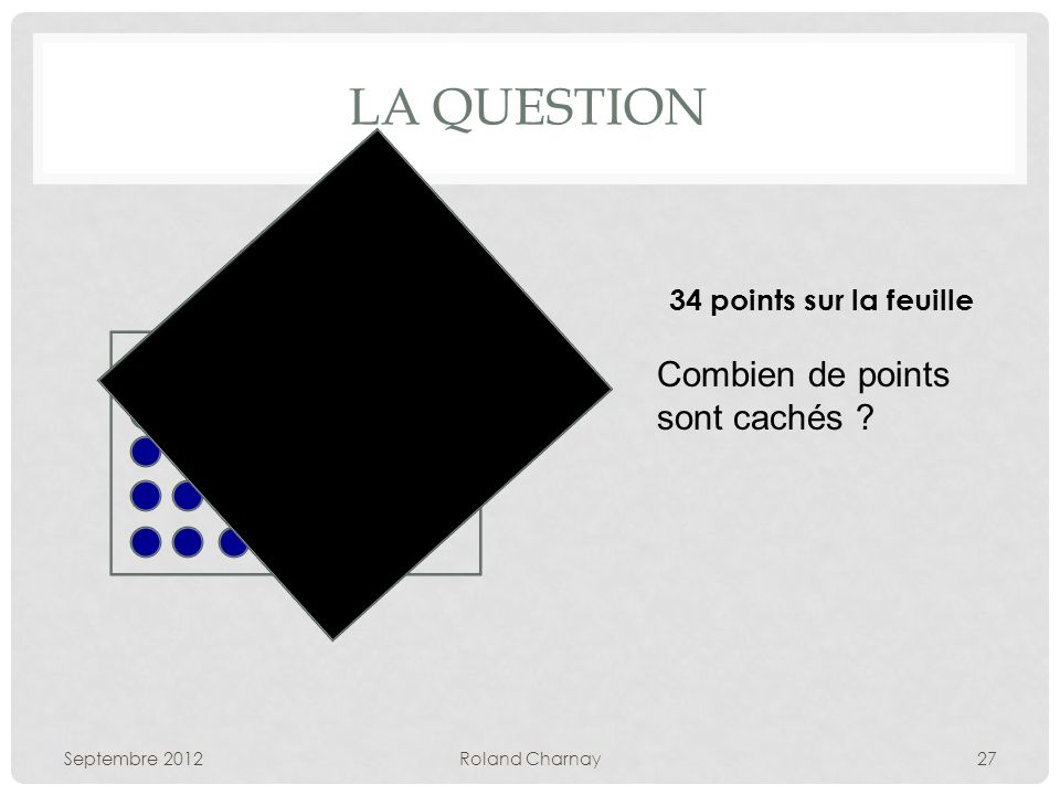 La question Combien de points sont cachés 34 points sur la feuille