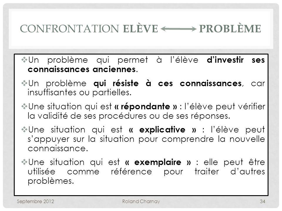 Confrontation Elève Problème
