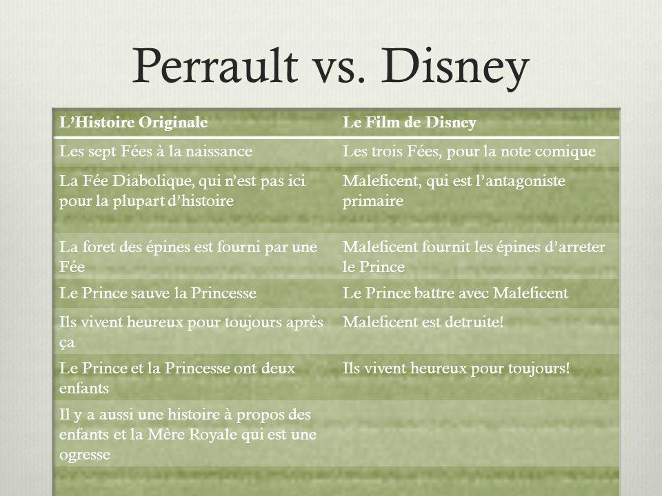 Perrault vs. Disney L'Histoire Originale Le Film de Disney