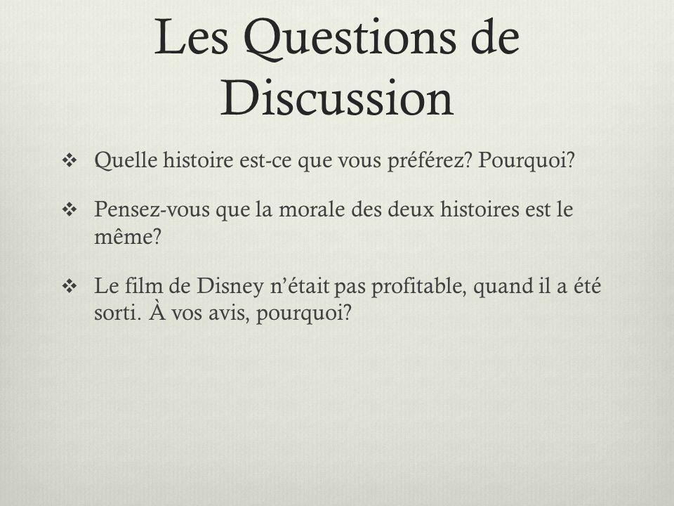 Les Questions de Discussion