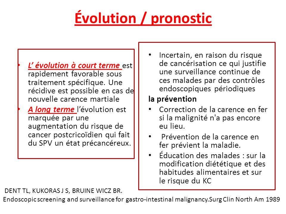 Évolution / pronostic