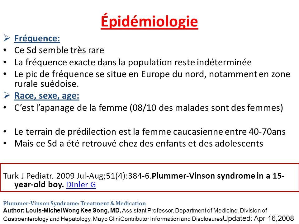 Épidémiologie Fréquence: Ce Sd semble très rare