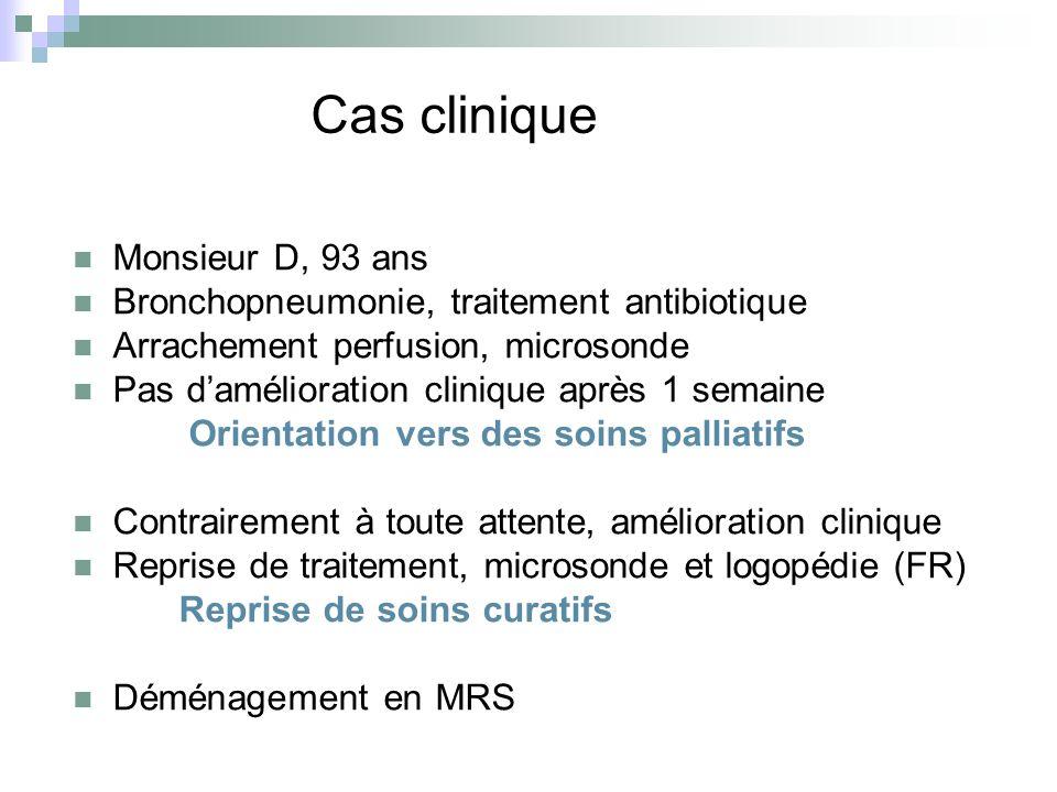 Cas clinique Monsieur D, 93 ans