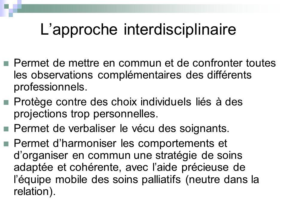 L'approche interdisciplinaire