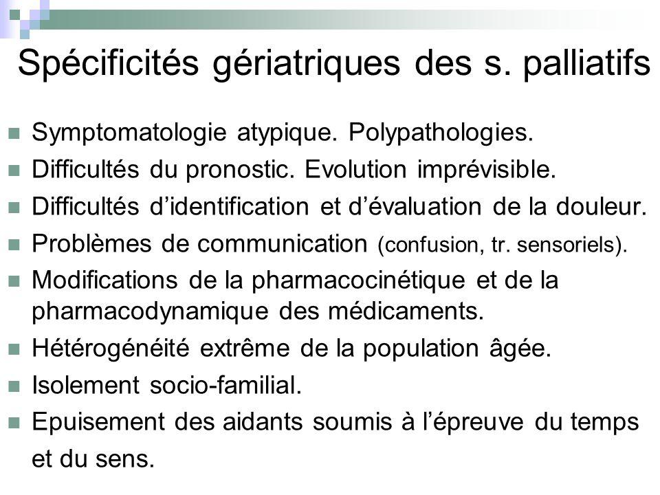 Spécificités gériatriques des s. palliatifs