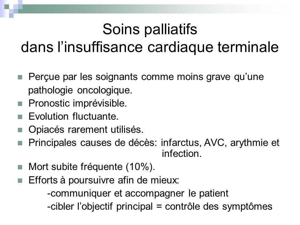 Soins palliatifs dans l'insuffisance cardiaque terminale
