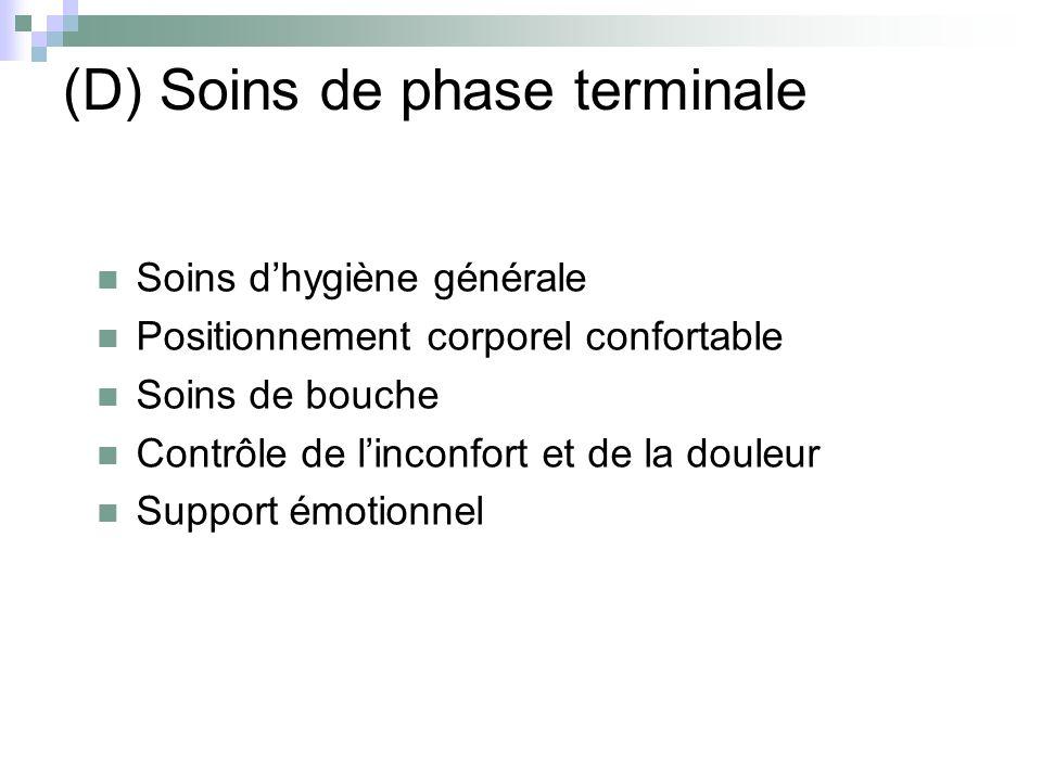 (D) Soins de phase terminale