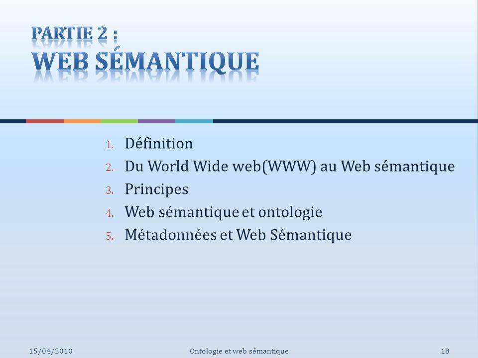 Partie 2 : Web Sémantique