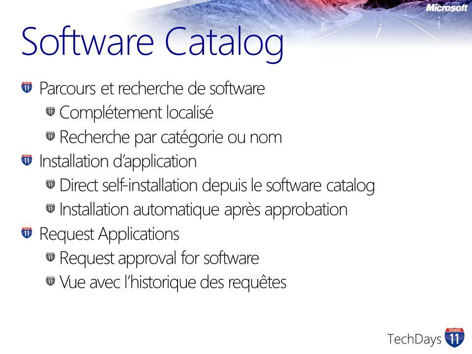 Software Catalog Parcours et recherche de software