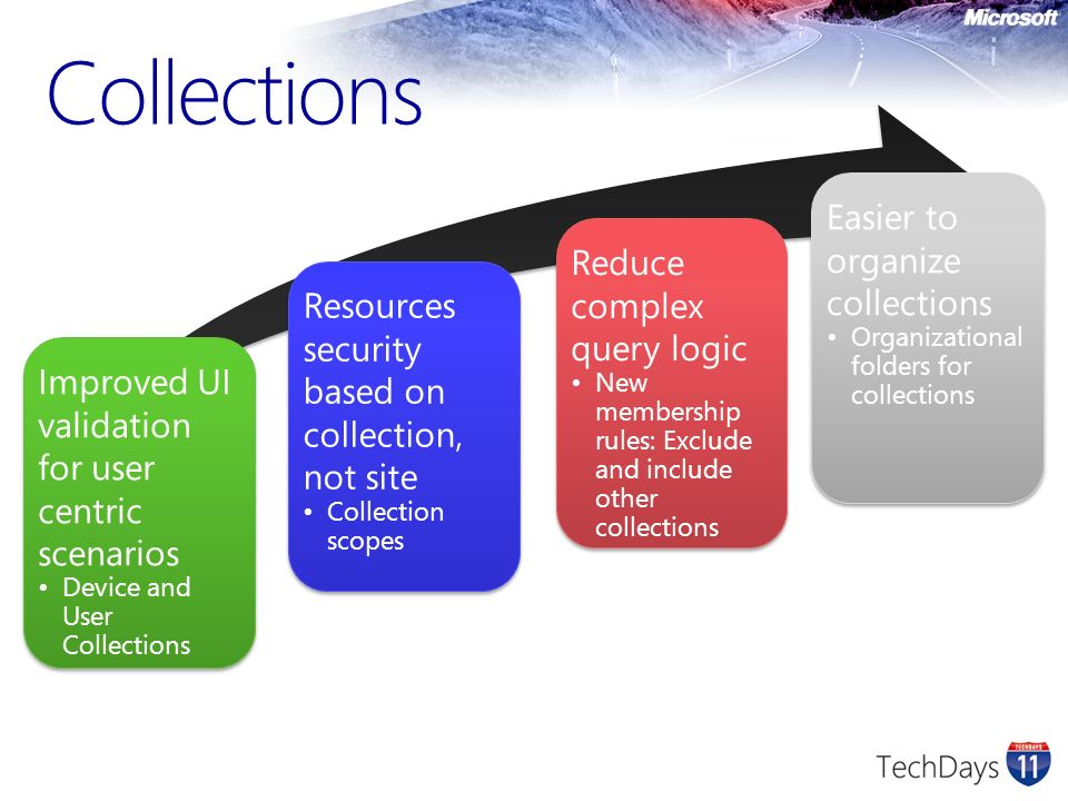 Collections Easier to organize collections Reduce complex query logic