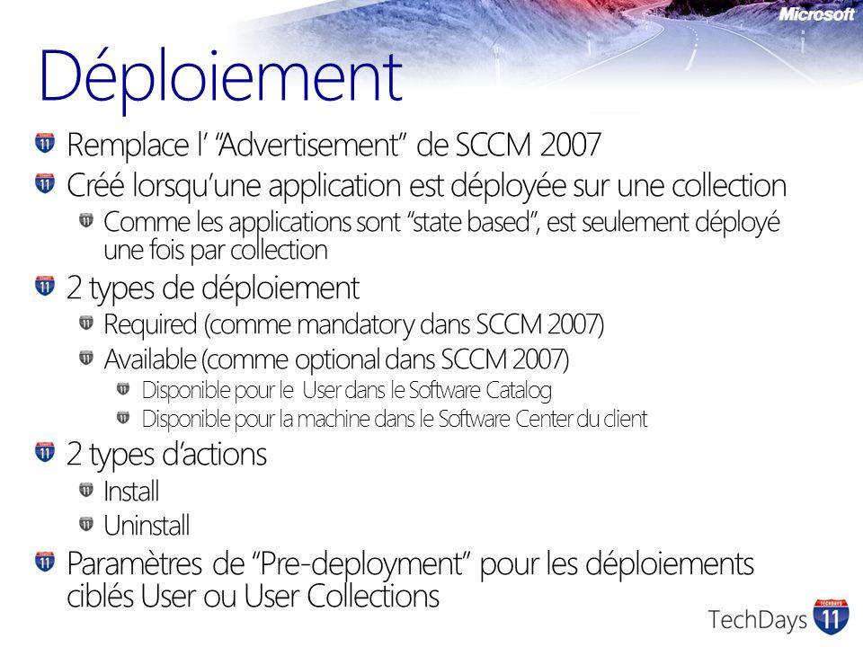 Déploiement Remplace l' Advertisement de SCCM 2007