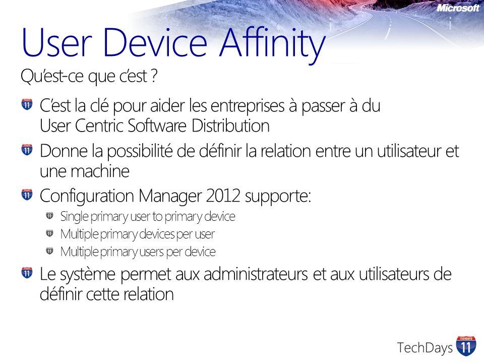 User Device Affinity Qu'est-ce que c'est