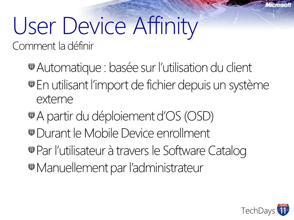 User Device Affinity Comment la définir