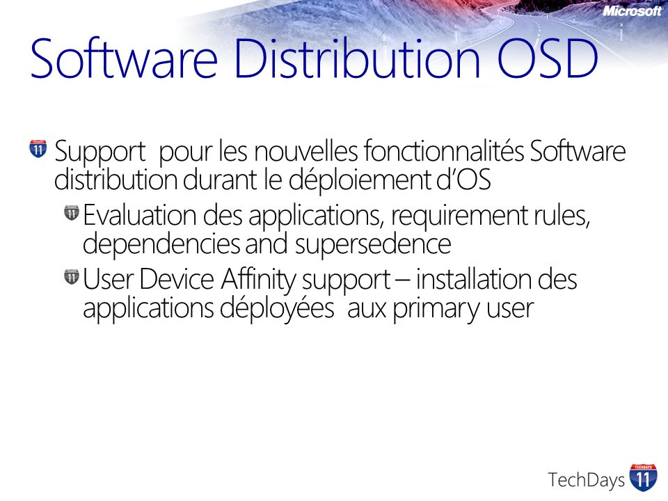 Software Distribution OSD