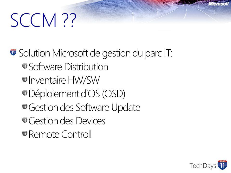 SCCM Solution Microsoft de gestion du parc IT: