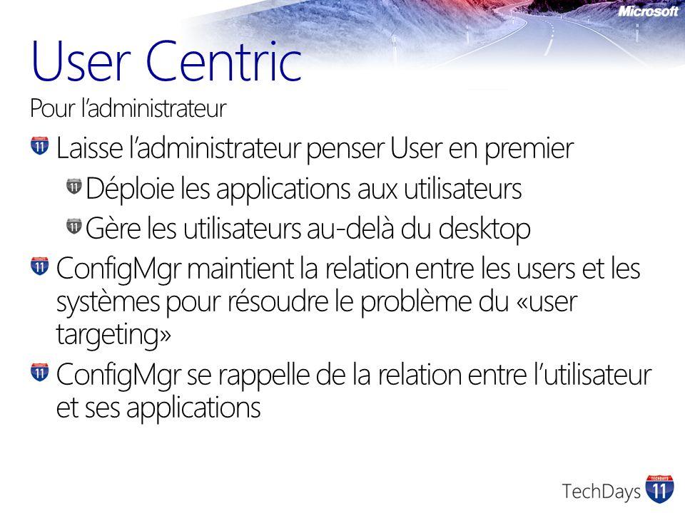 User Centric Pour l'administrateur