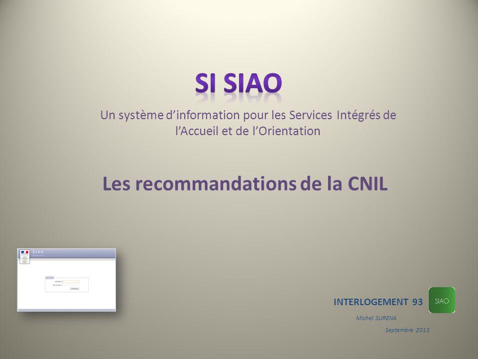 Les recommandations de la CNIL