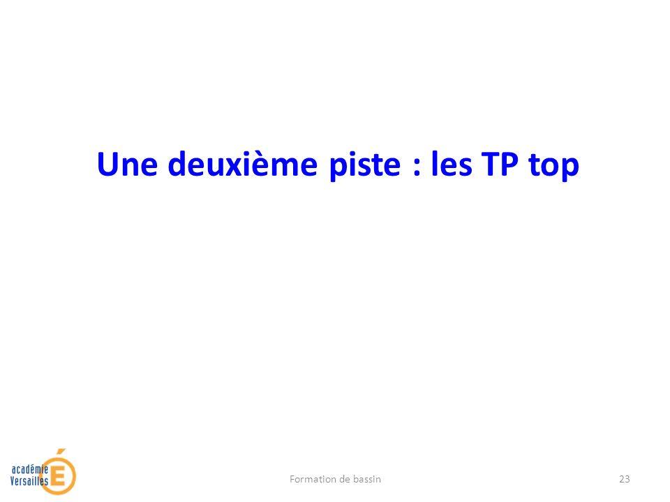 Une deuxième piste : les TP top