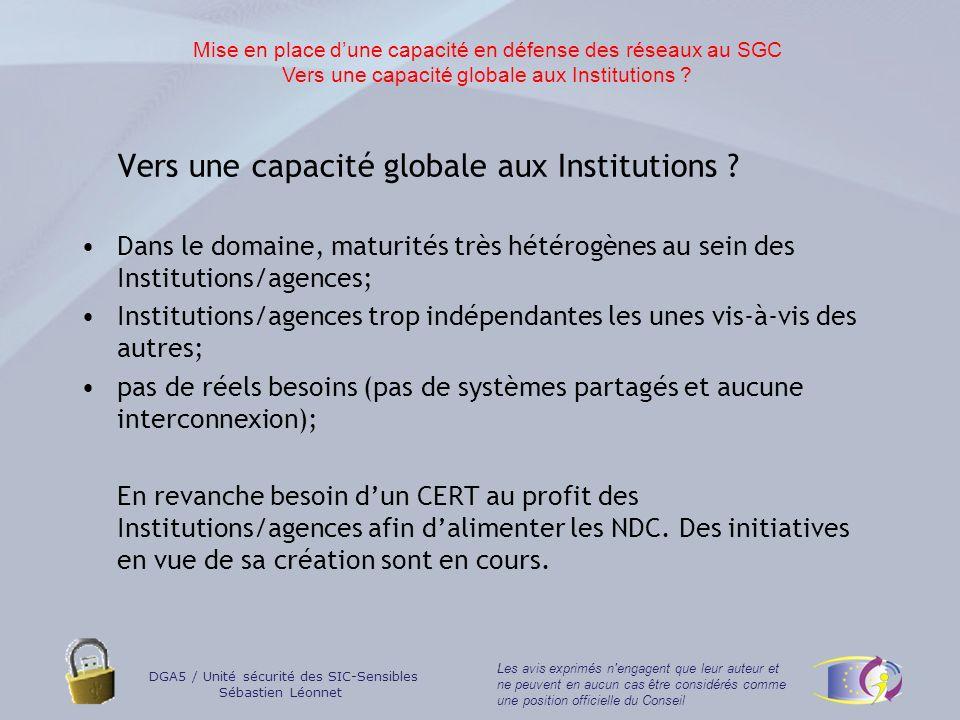 Vers une capacité globale aux Institutions