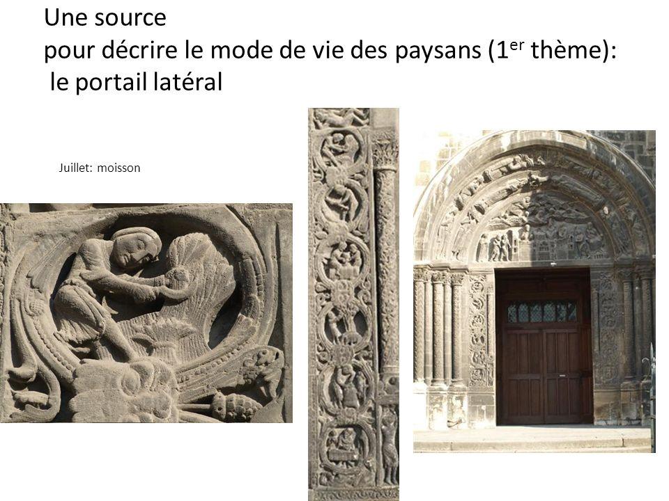 Une source pour décrire le mode de vie des paysans (1er thème): le portail latéral