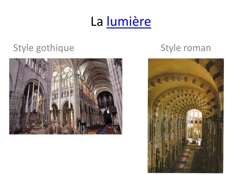 Style gothique Style roman