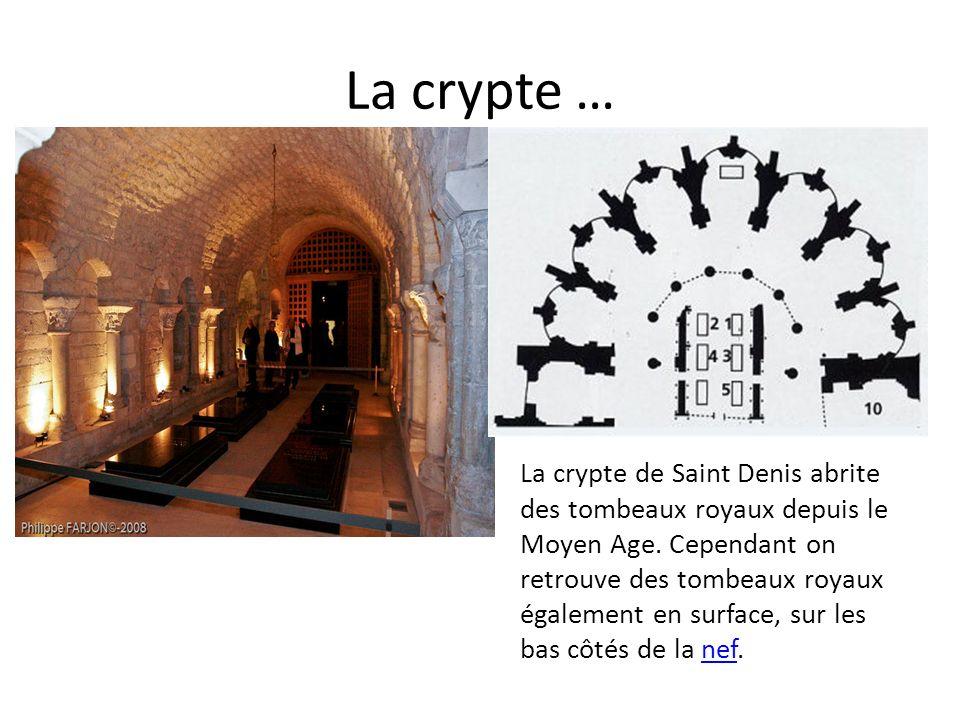 La crypte …