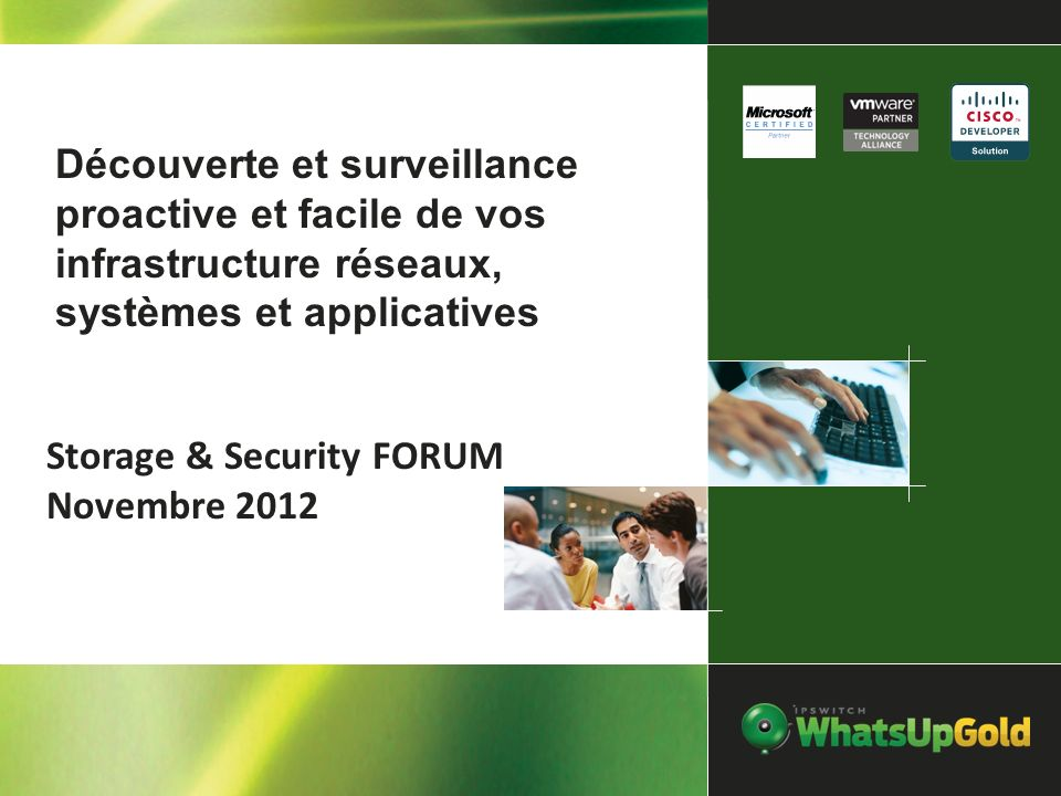 Storage & Security FORUM Novembre 2012