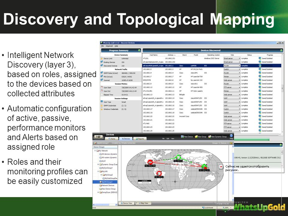 Discovery and Topological Mapping