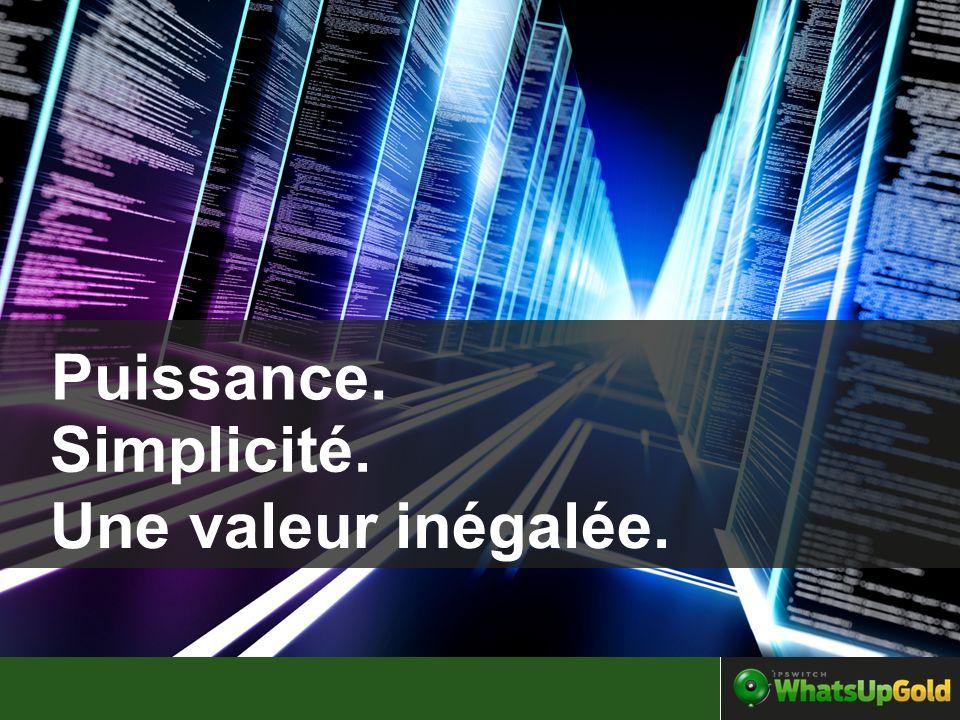 Puissance. Simplicité. Une valeur inégalée.