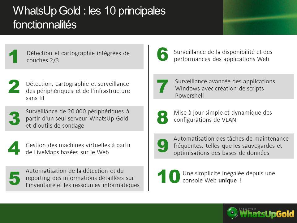 6 1 2 7 3 8 9 4 10 5 WhatsUp Gold : les 10 principales fonctionnalités