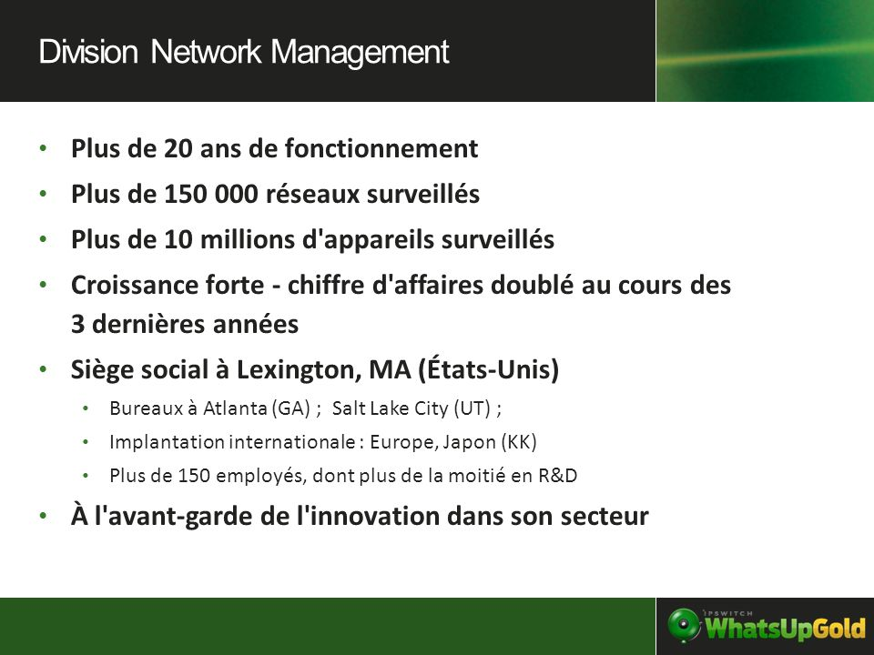 Division Network Management