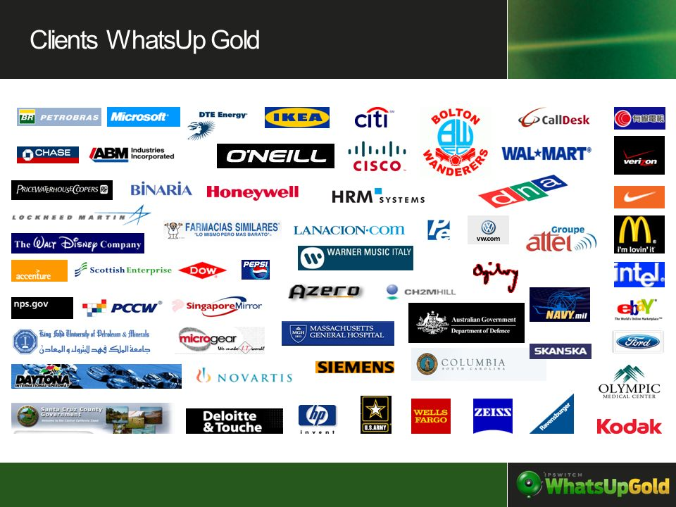 Clients WhatsUp Gold