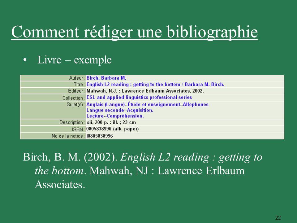 Comment rédiger une bibliographie