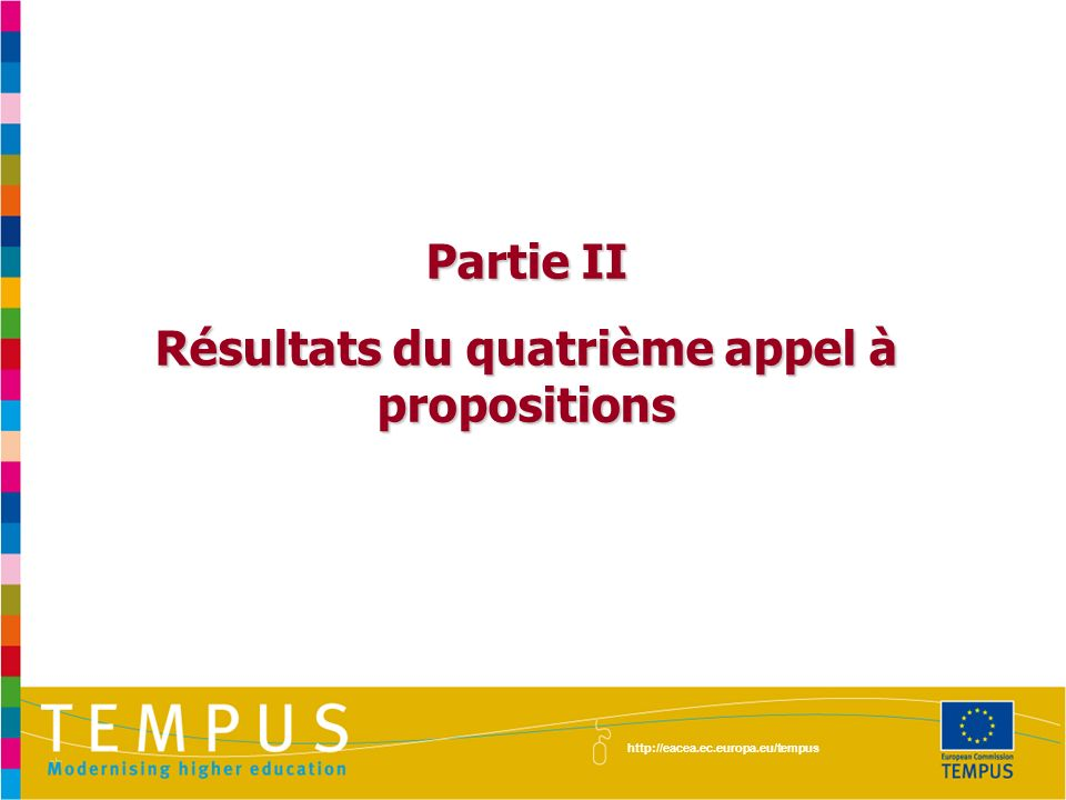 Résultats du quatrième appel à propositions