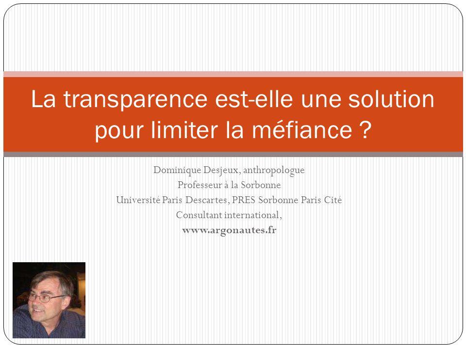 La transparence est-elle une solution pour limiter la méfiance