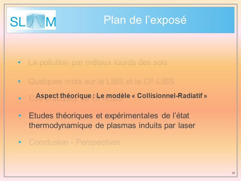Aspect théorique : Le modèle « Collisionnel-Radiatif »