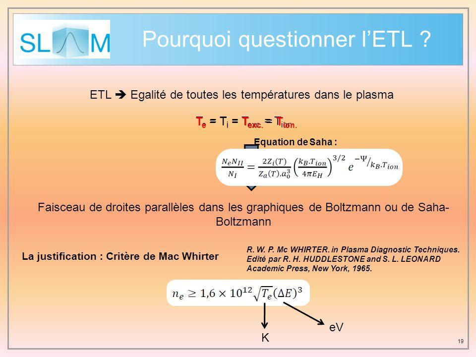 Pourquoi questionner l'ETL
