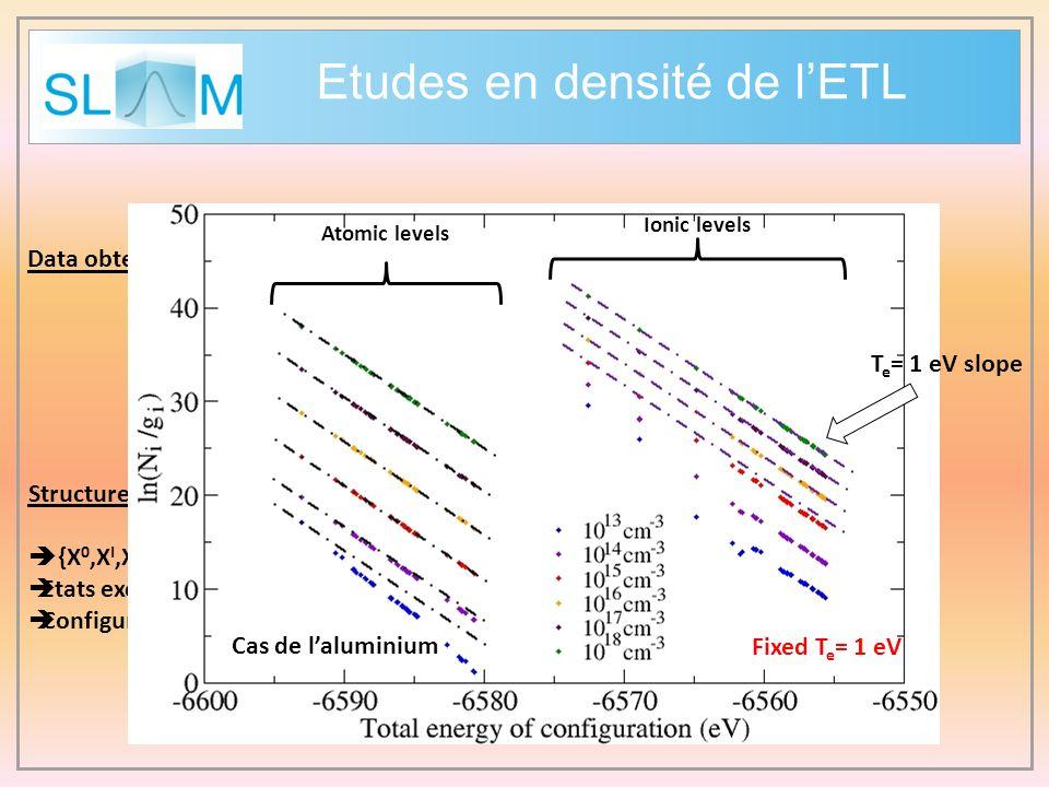Etudes en densité de l'ETL