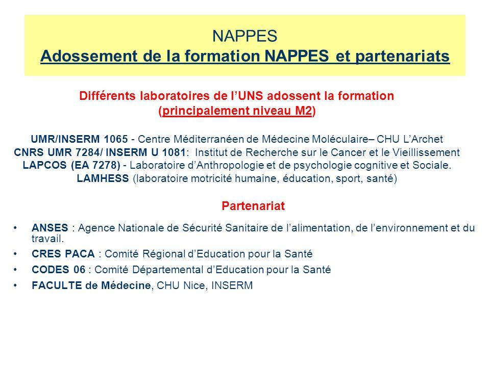 NAPPES Adossement de la formation NAPPES et partenariats