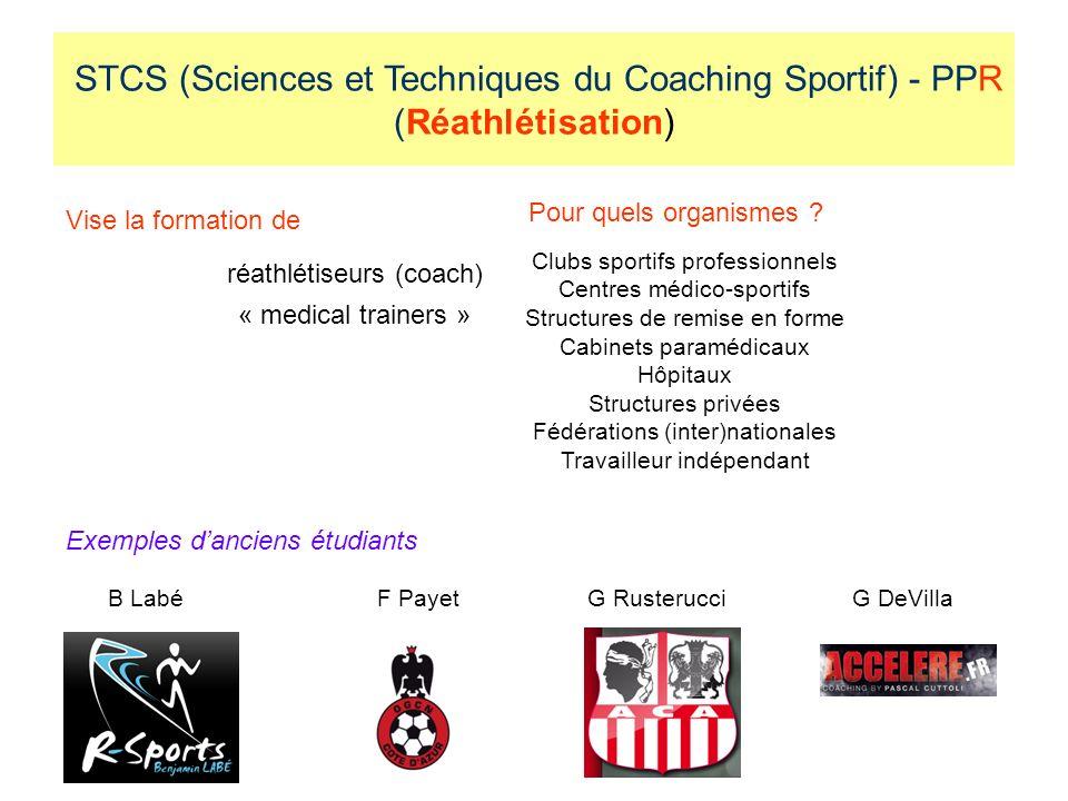 STCS (Sciences et Techniques du Coaching Sportif) - PPR (Réathlétisation)