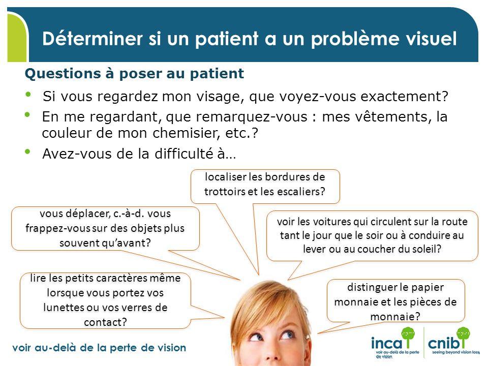 Déterminer si un patient a un problème visuel
